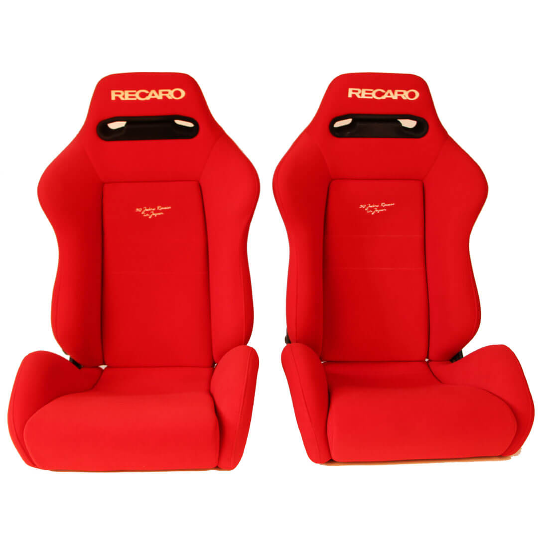 Recaro Racing Car Seat >> Pair Of Used Jdm Recaro Sr3 Red Bucket Sport Seats Racing Auto Cars